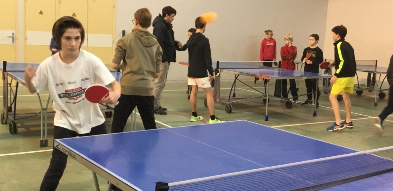 Compétition de tennis de table secteur sur Savenay