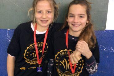 1ères au championnat départemental d'escalade