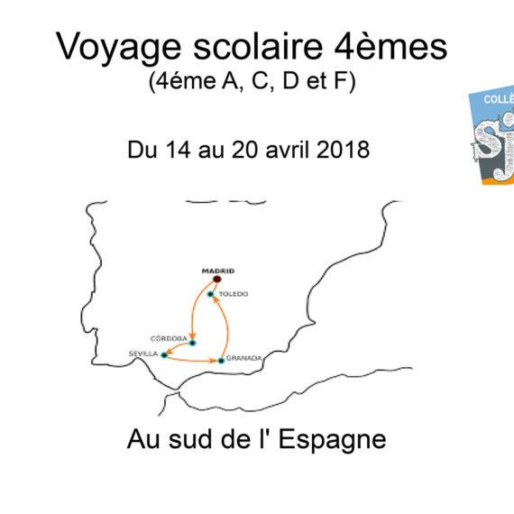Réunion voyage Espagne 4ème A, C, D et F
