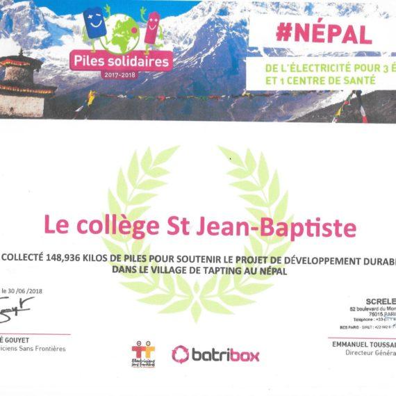 Piles solidaires : une opération éco-citoyenne et solidaire à Saint Jean Baptiste