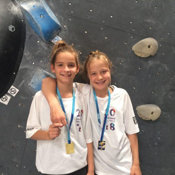 Sarah Knerr et Louanne Bivaud – championnes de France en Escalade