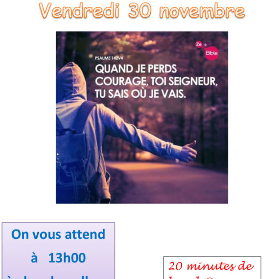 Invitation à la Messe du 30 novembre