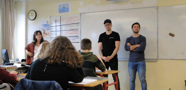 Les Hockeyeurs de Nantes parlent anglais à nos élèves de 4ième