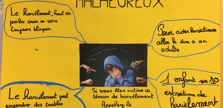 Affiches sur le harcèlement