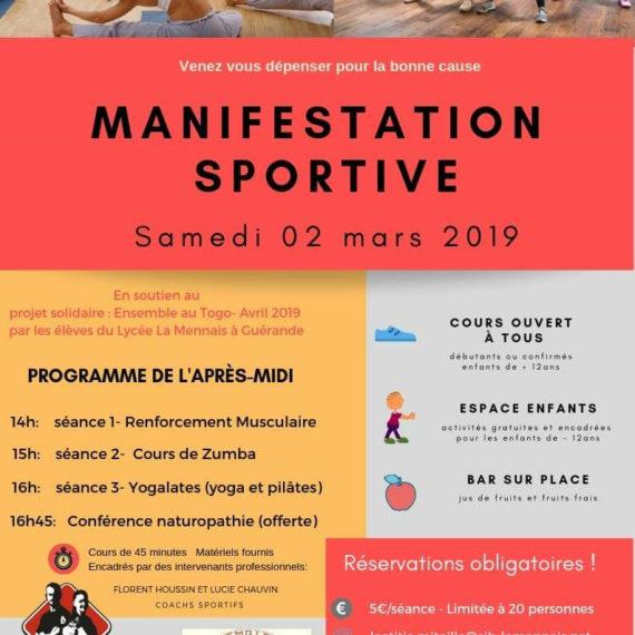 Journée sportive en soutien au projet Solidaire ensemble au Togo