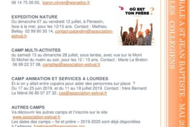 Informations Pastorales – Mai 2019