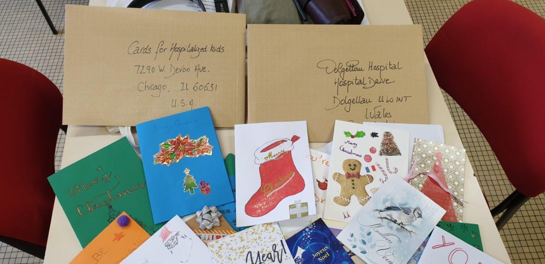 Cartes de vœux en anglais pour des enfants hospitalisés et pour des personnes âgées