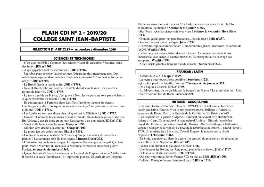 thumbnail of FLASH CDI 2 2019-2020