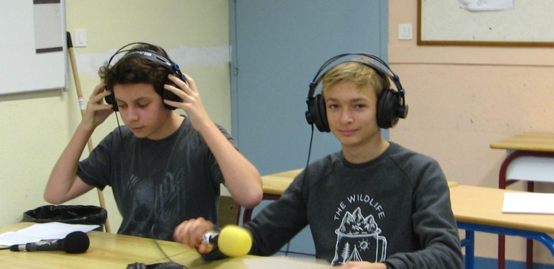 Les 3ème D et 3ème G sur JET FM
